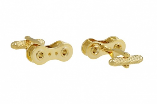 Gold Colour Bike Chain Cufflinks